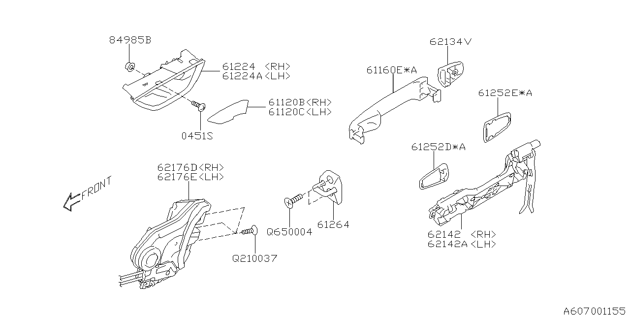 2019 Subaru Impreza Door Parts - Latch & Handle