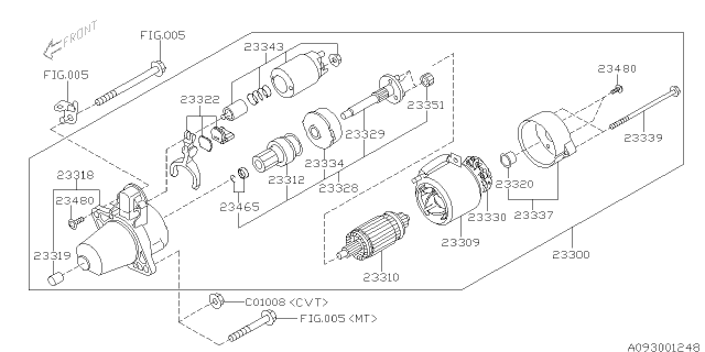 2016 Subaru Crosstrek Starter Diagram