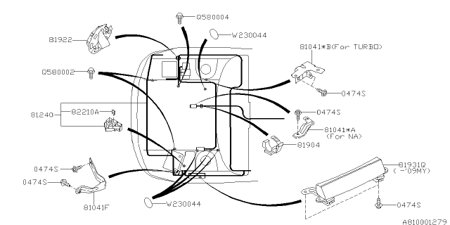 wiring harness - main - 2009 subaru forester  subaru parts deal