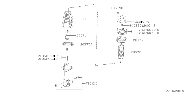 2001 Subaru Forester Rear Shock Absorber Diagram