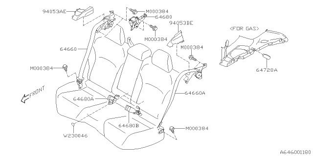 2021 Subaru Crosstrek Rear Seat Belt Diagram