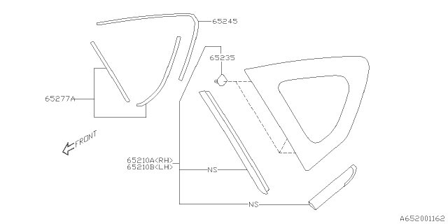 2019 Subaru Crosstrek Rear Quarter Diagram