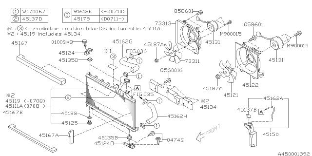 45134AG010 - Genuine Subaru COVERSubaru Parts Deal