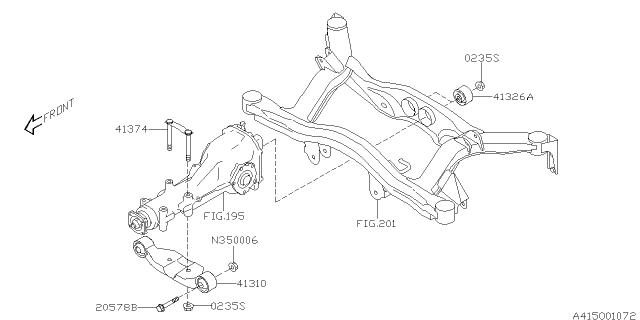 2005 Subaru Legacy Differential Mounting Diagram