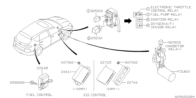 Relay & Sensor - Engine - 2009 Subaru TribecaSubaru Parts Deal