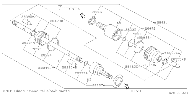 2016 Subaru WRX STI Rear Axle