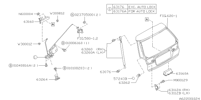 1996 Subaru Legacy Back Door Parts Diagram