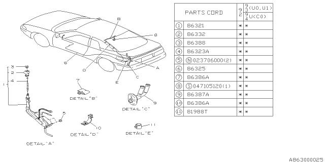 Audio Parts - Antenna - 1992 Subaru SVXSubaruPartsDeal.com - Genuine Subaru Parts