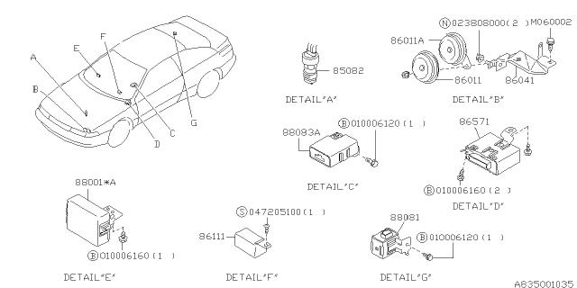 Electrical Parts - Body - 1997 Subaru SVXSubaruPartsDeal.com - Genuine Subaru Parts