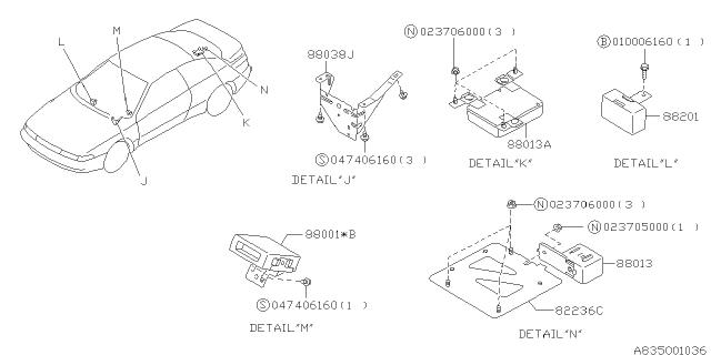 Electrical Parts - Body - 1996 Subaru SVXSubaru Parts Deal
