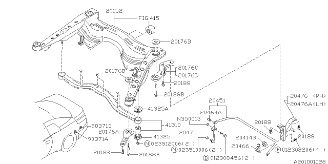1996 Subaru SVX Rear Suspension