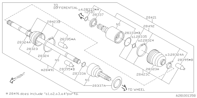 2020 Subaru Outback Rear Axle
