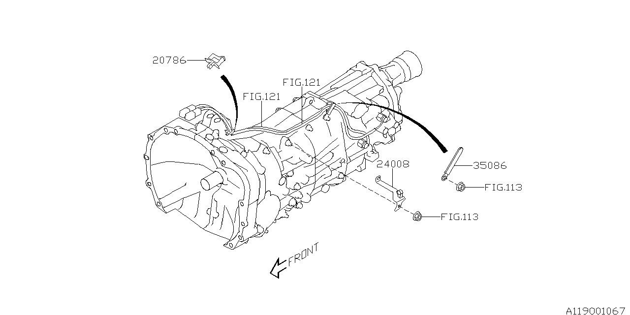 2017 Subaru Crosstrek Transmission Harness - Subaru Parts Deal