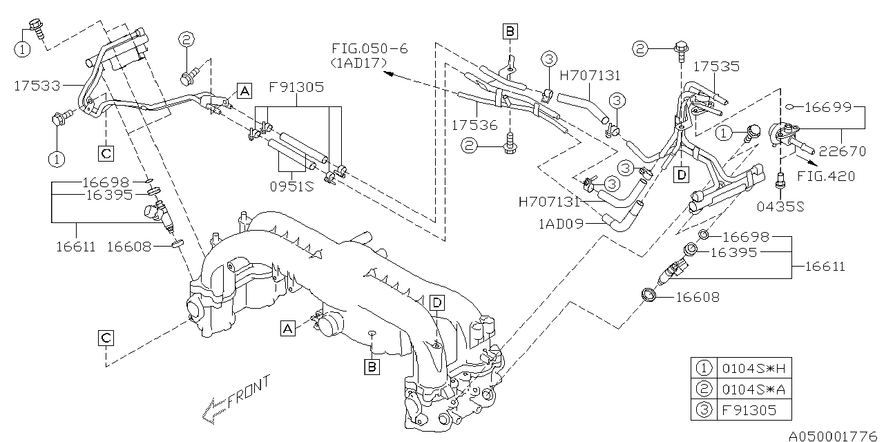 17535AA710 - Genuine Subaru PIPE FUEL LH
