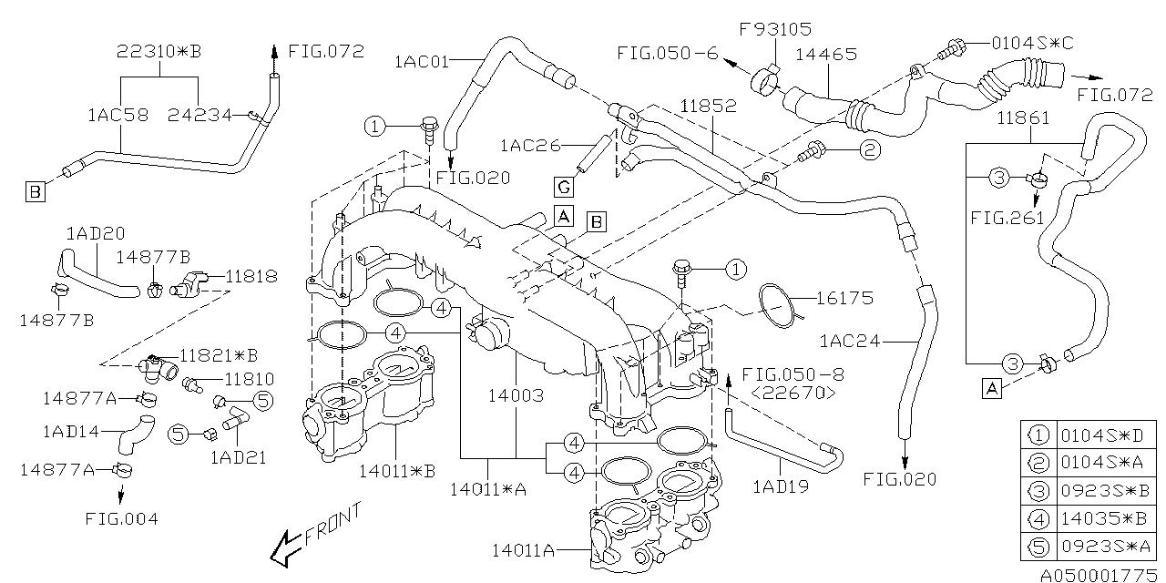 subaru 11852aa091 Subaru Fuel System Diagram