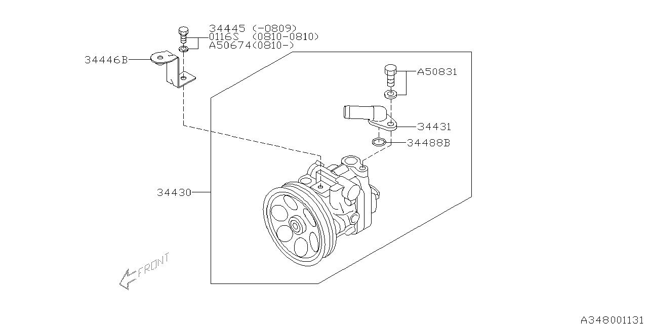 34439fg000 genuine subaru o ring connector. Black Bedroom Furniture Sets. Home Design Ideas