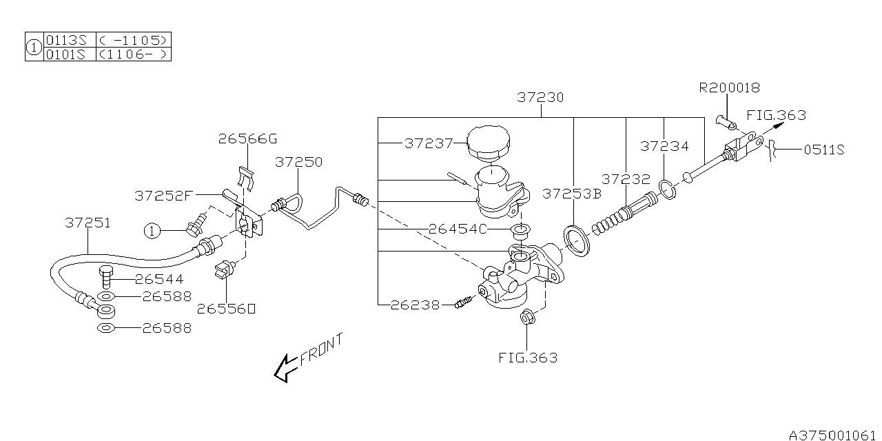 subaru forester 2 5l engine diagram