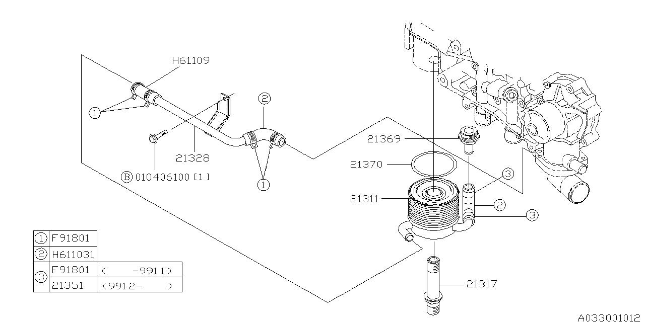 Genuine Subaru Engine Coolant Hose 807611031