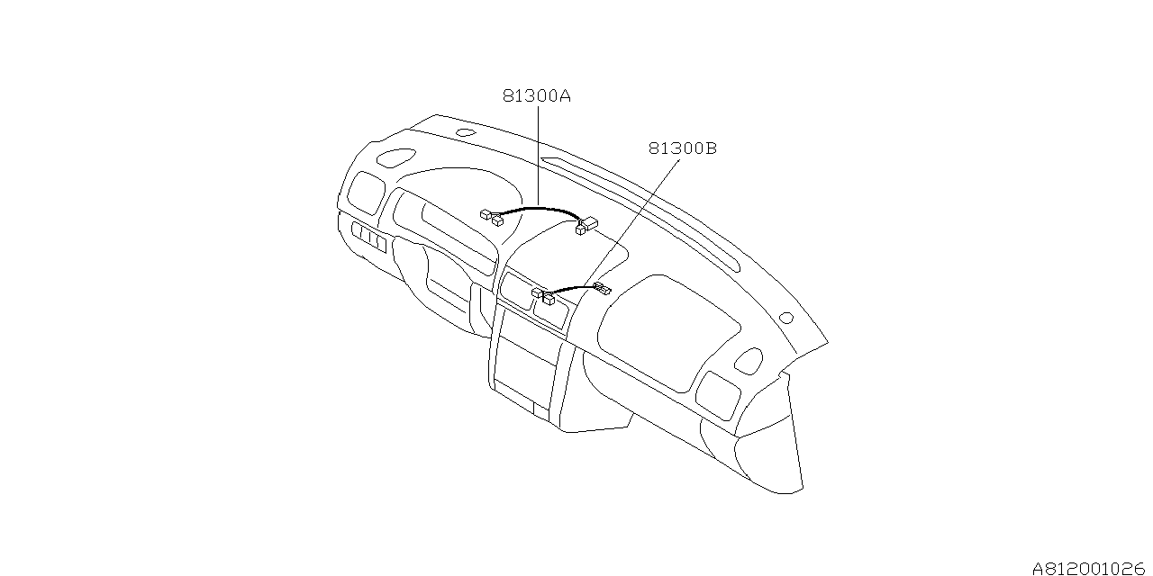 2002 subaru forester wiring harness instrument panel. Black Bedroom Furniture Sets. Home Design Ideas