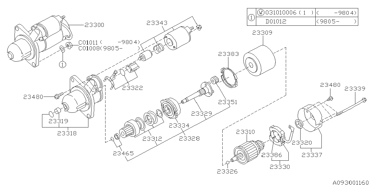 Subaru Forester Starter Diagram
