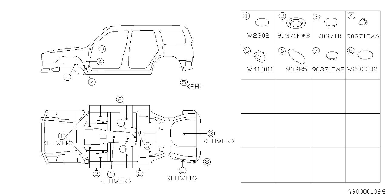 2000 Subaru Forester Plug Thumbnail 1