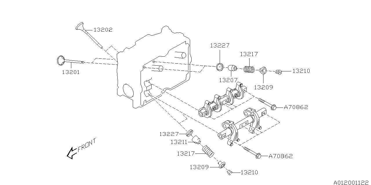 2002 subaru forester valve mechanism - thumbnail 1