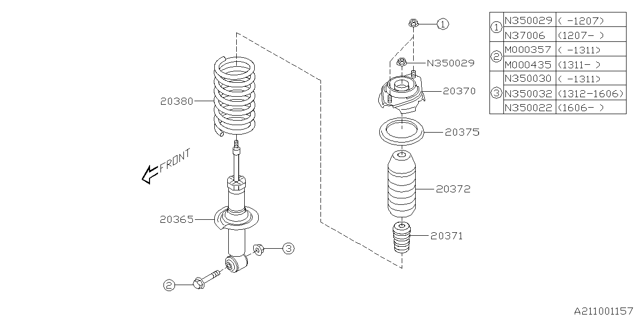 2014 Subaru BRZ Rear Shock Absorber