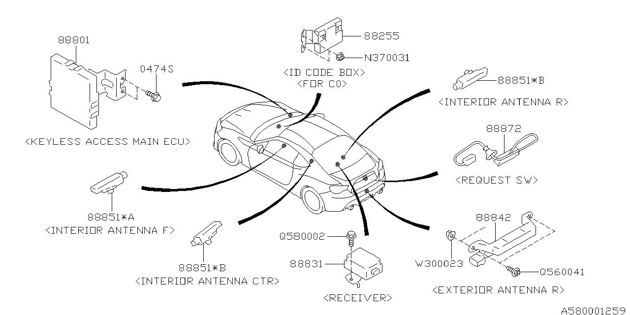 subaru brz engine diagram
