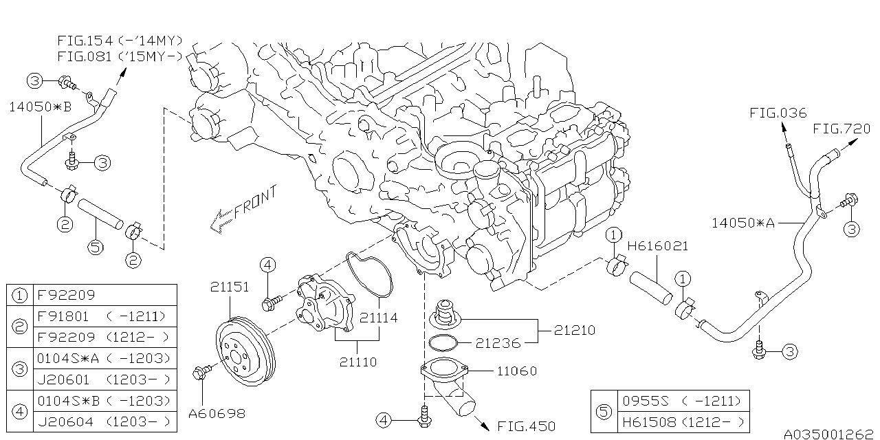 "/""Subaru P#21236AA050~ Thermostat Gasket~/""New"