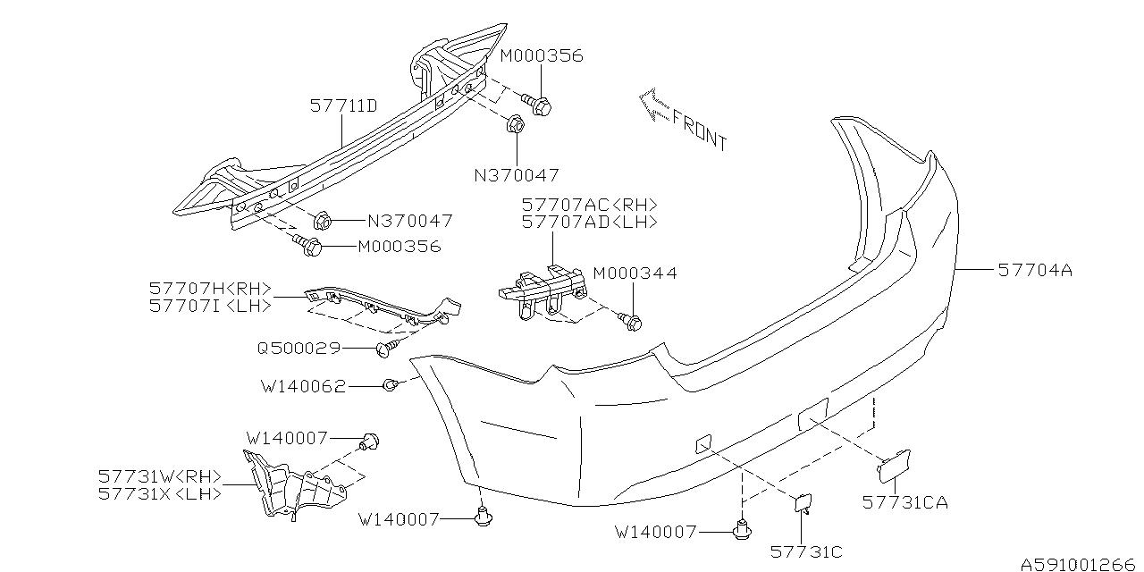 57731fj040 - genuine subaru cover side l wr st rh subaru impreza parts diagram  subaru parts