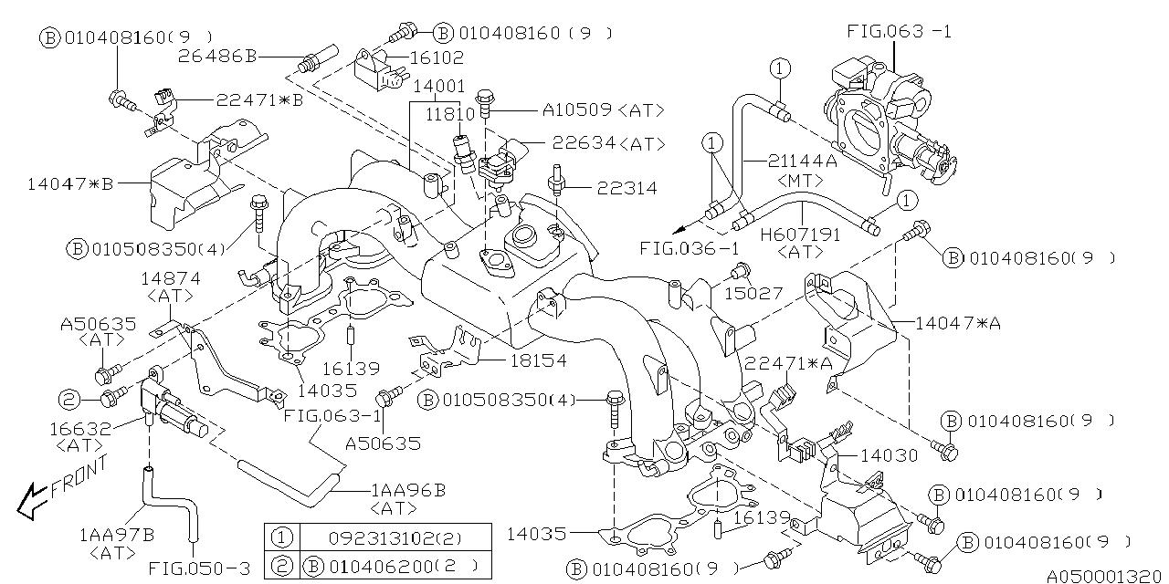 2001 subaru legacy intake manifold