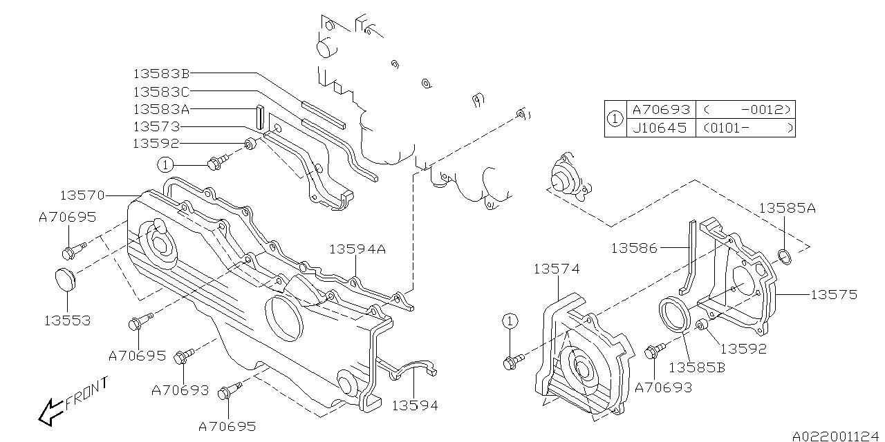 2001 Subaru Outback Parts