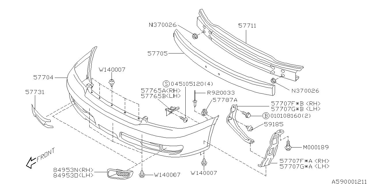 2001 Subaru Outback Main Fuse