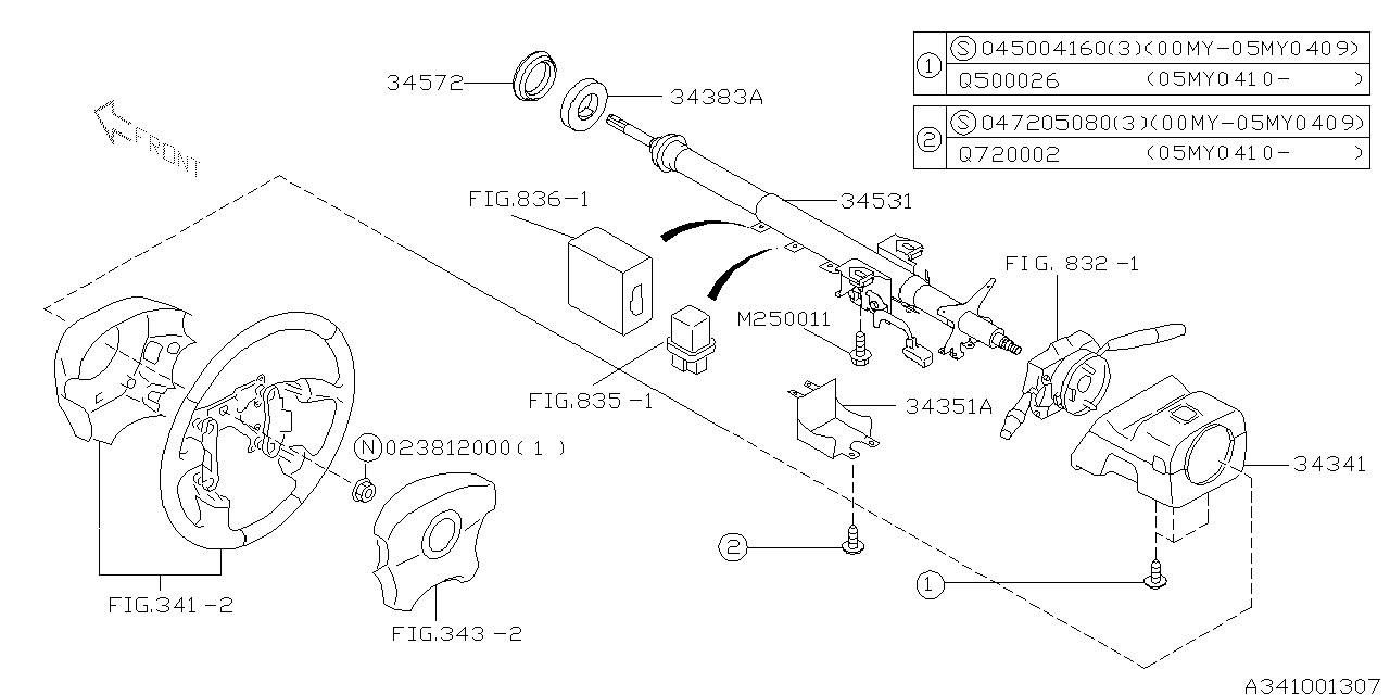 Subaru Baja Parts Diagram
