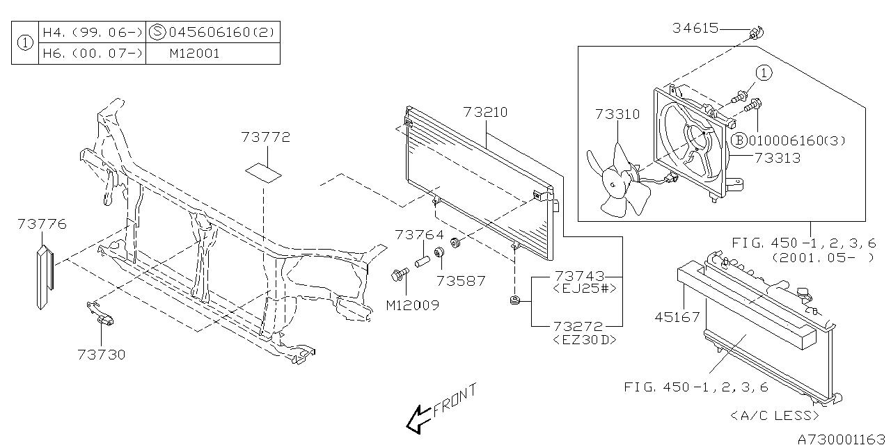 Subaru 73730AE07B Ambient Air Temperature Sensor
