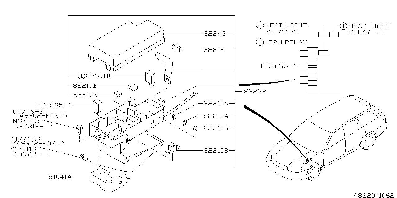 82231AE07B - Genuine Subaru FUSE BOX ASSY MAI