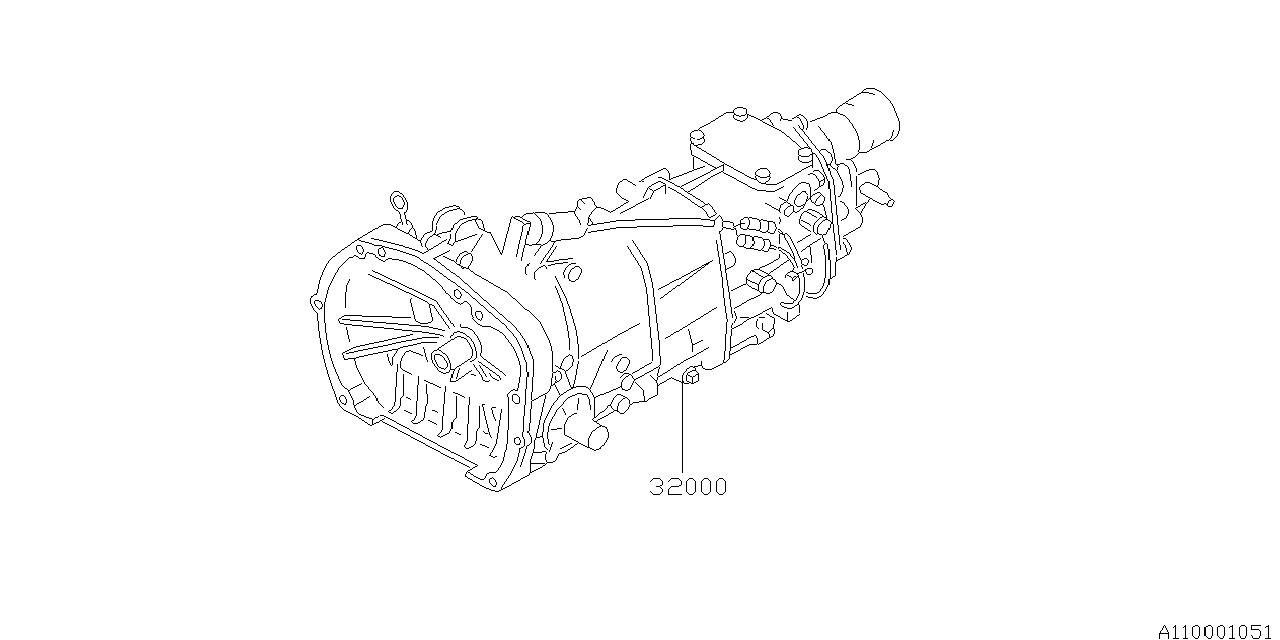 2003 Subaru Outback Manual Transmission Assembly