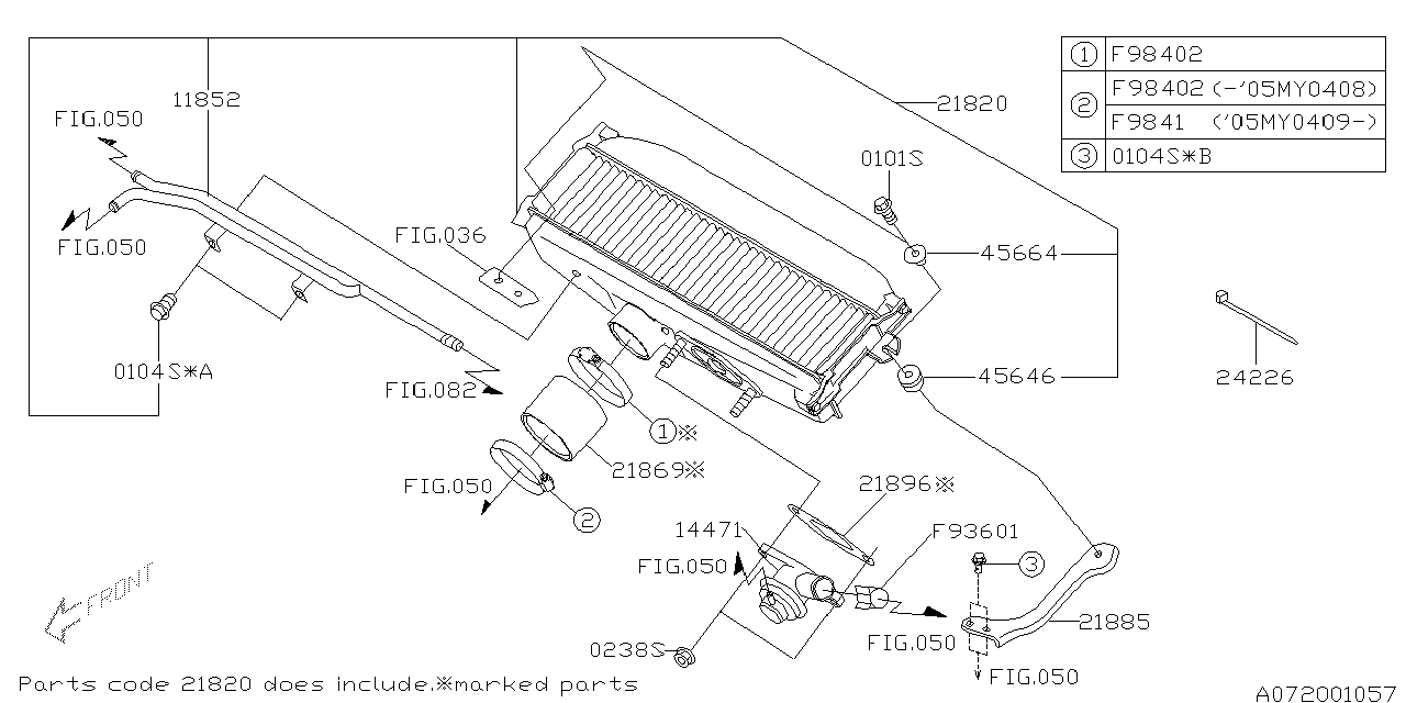 21820aa300 Genuine Subaru Inter Cooler Assembly