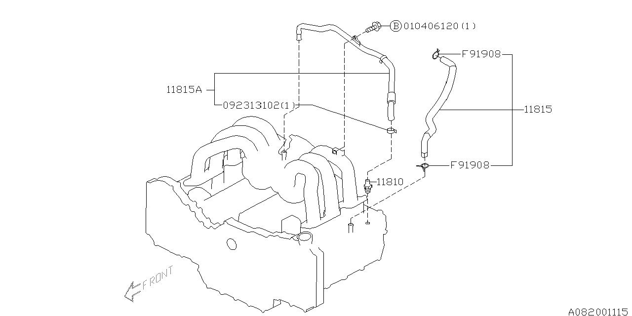 2004 subaru baja emission control - pcv - thumbnail 1
