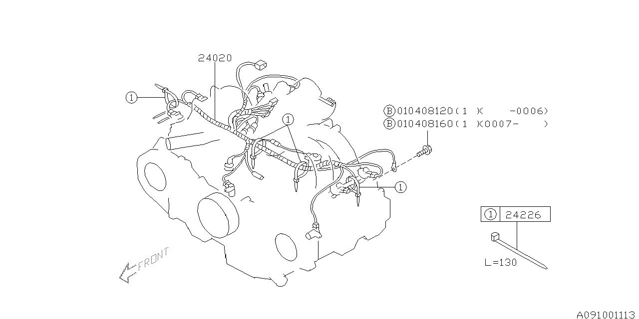 2000 Subaru Outback Engine Wiring Harness
