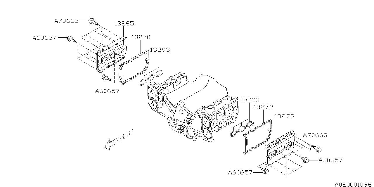 2003 subaru baja engine