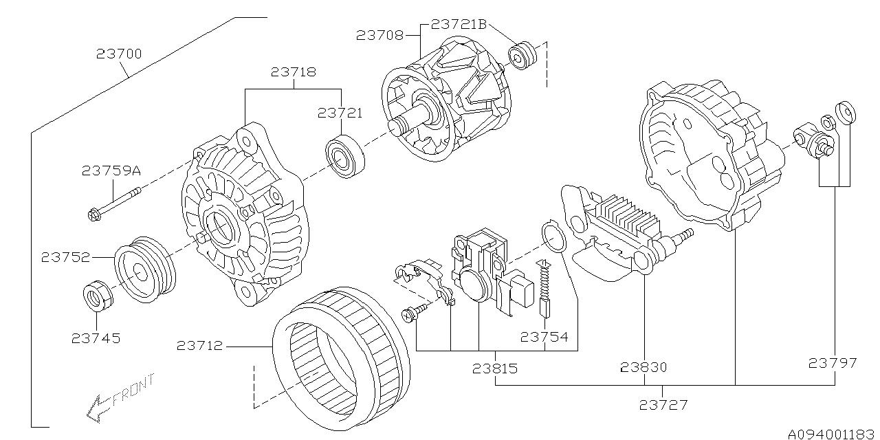 2004 subaru legacy alternator