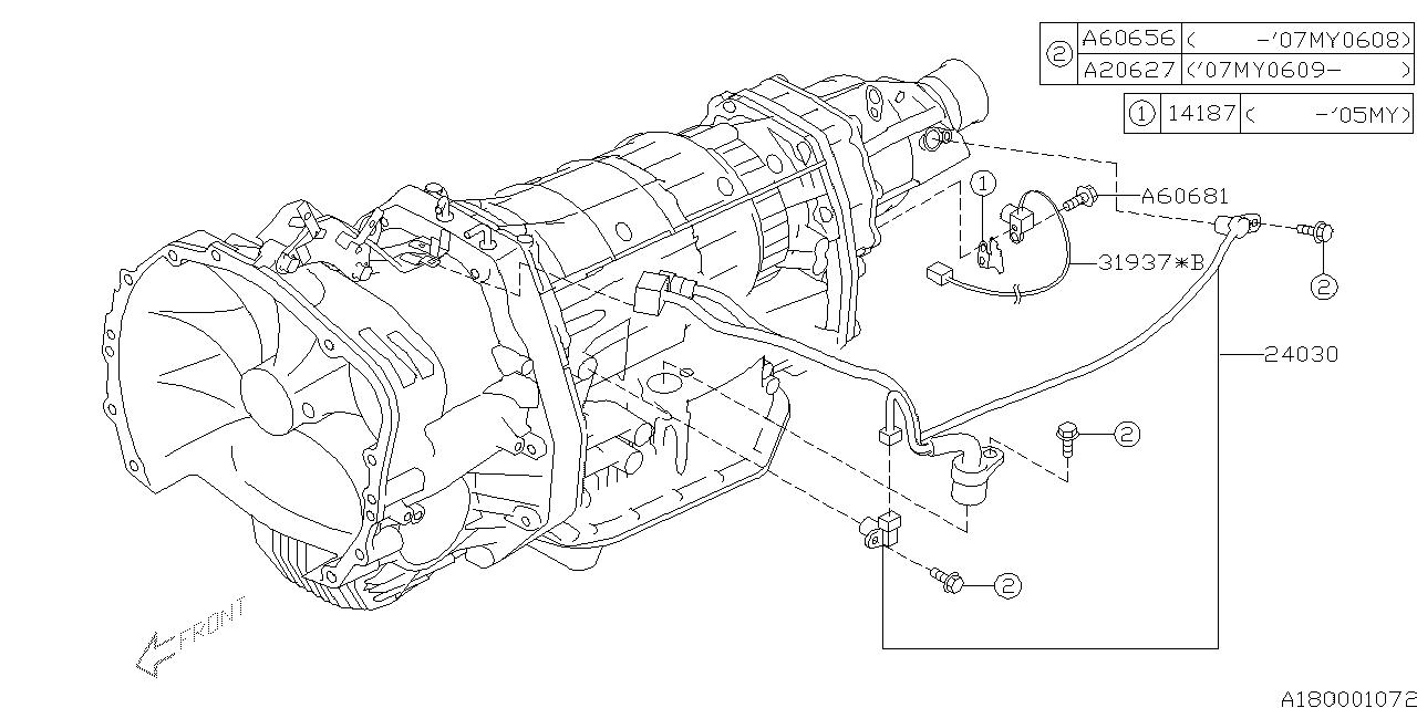 14187AA000 - Genuine Subaru COVER SENSOR
