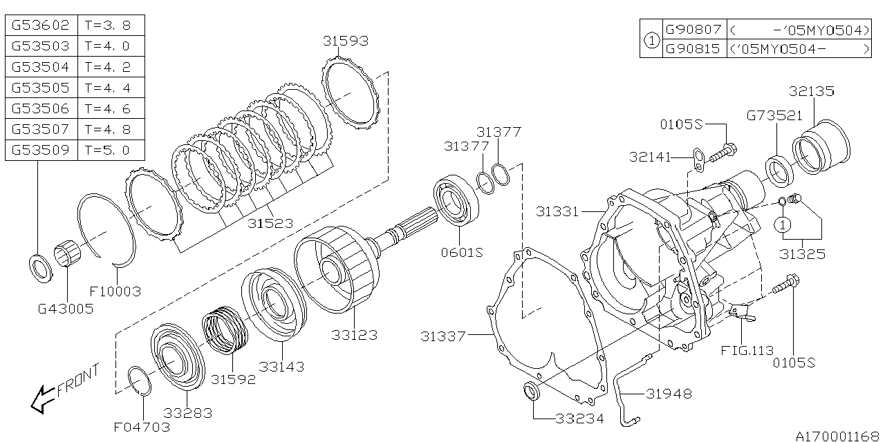 2005 subaru outback manual transmission
