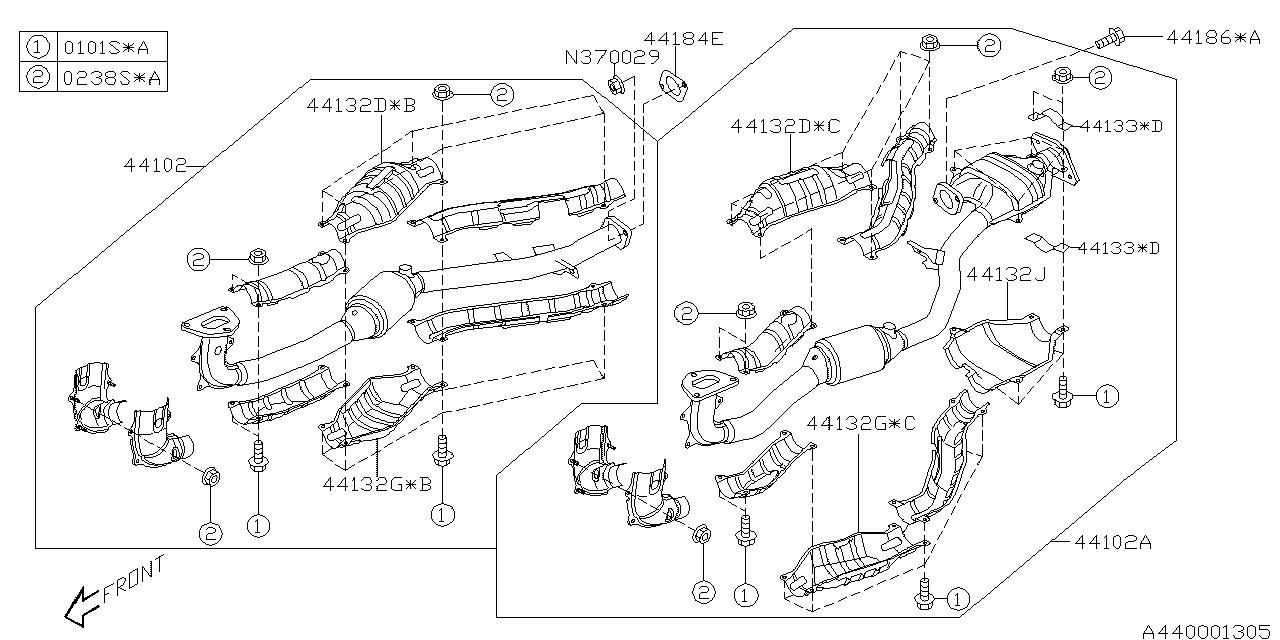 44101AG17A - Genuine Subaru PIPE ASSY RH AT