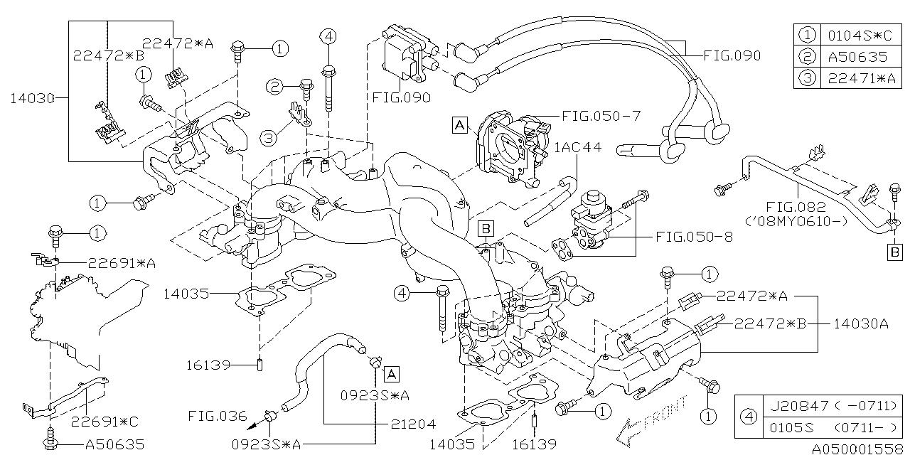 subaru 14030aa060 Subaru Fuel System Diagram