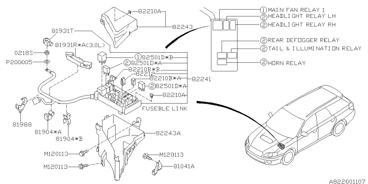 82501AG08A - Genuine Subaru RELAY ASSY