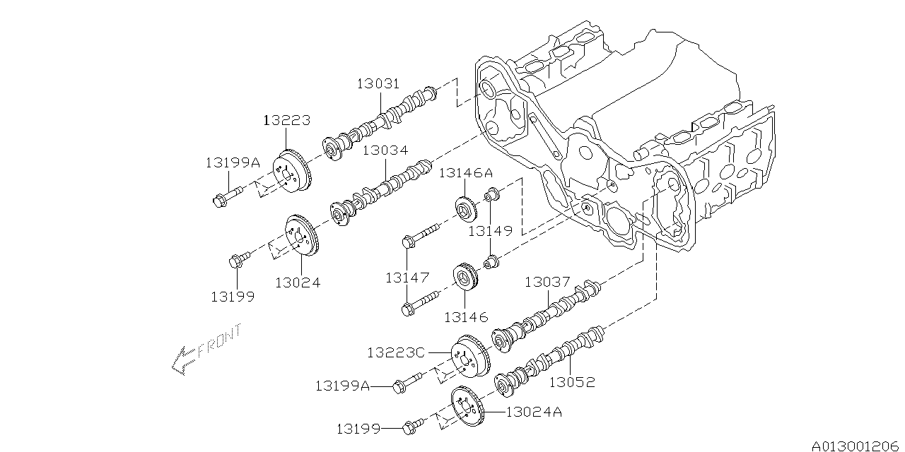 08 subaru outback belt diagram