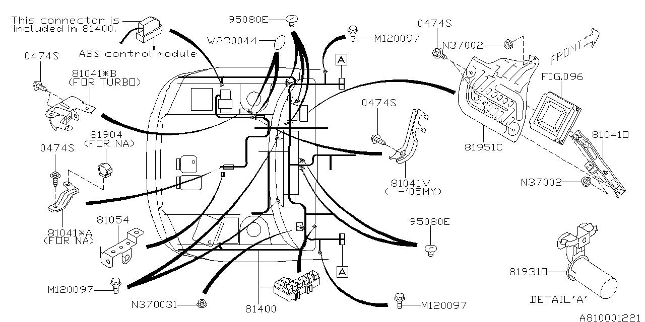 2005 subaru outback wiring harness main subaru parts deal 2002 Subaru Outback Engine Diagram