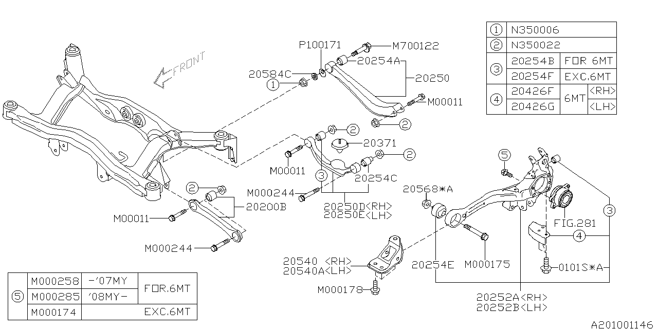 subaru outback rear suspension diagram